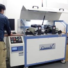 看板用のアルミ板をキレイに曲げることができる機械です。